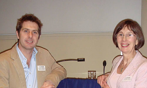 Iain Stewart with Susan Brown