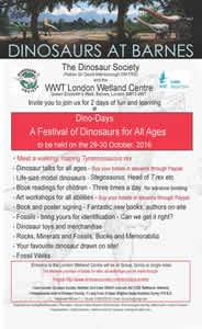 Dinosaurs in Barnes Dino Days