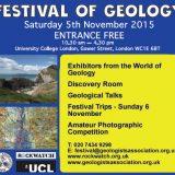 Festival of Geology – 5 November, University College London