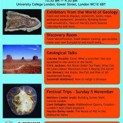 Festival of Geology on 4th November