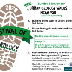 Walks and Talks at the Virtual Festival of Geology