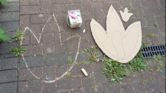 Chalking with Dinosaurs
